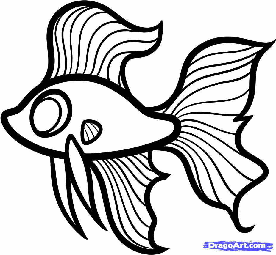 927x858 Simple Fish Drawings Simple Drawing Of Fish