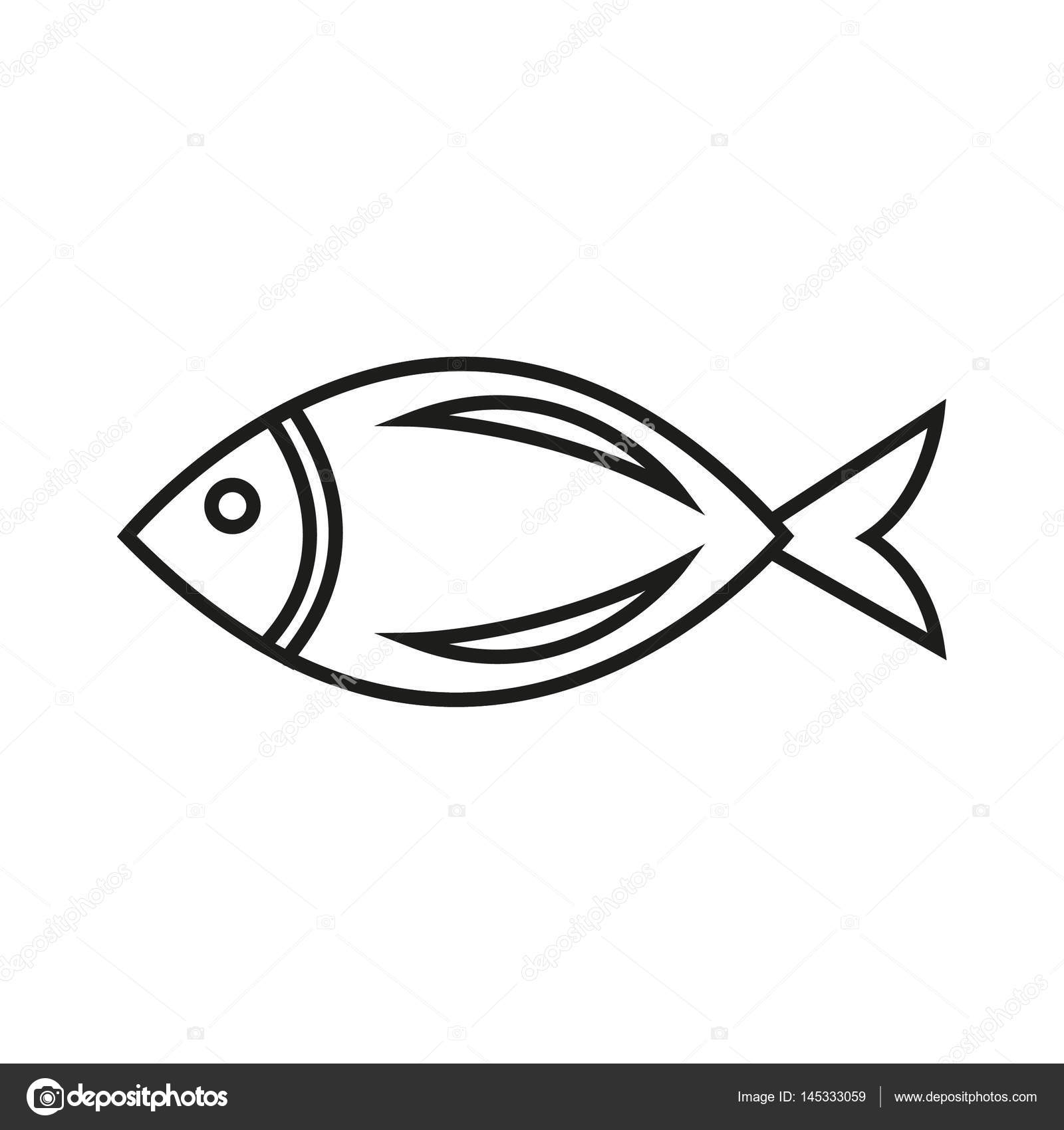 1600x1700 Simple Fish Icon Stock Vector Angbay