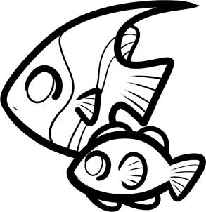 293x302 Coloring Pages Luxury Fish Drawings For Kids Simple Coloring