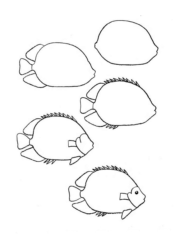 659x891 Draw A Simple Fish 10 Step By Step Drawing Lessons, Part 2