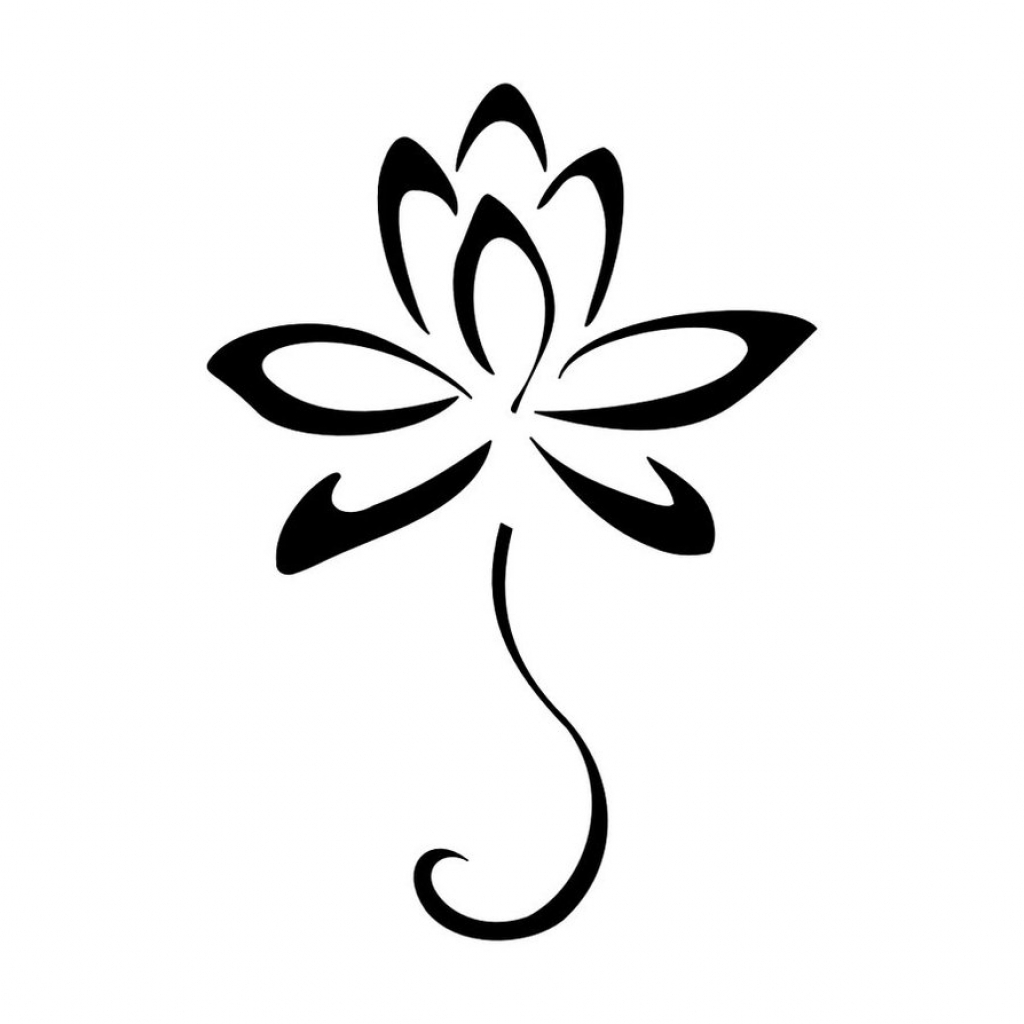 1024x1024 Simple Drawing Flower Simple Flower Designs Clipartsco