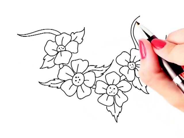 640x480 Simple Drawing Flowers How To Draw Beautiful Flowers Easy