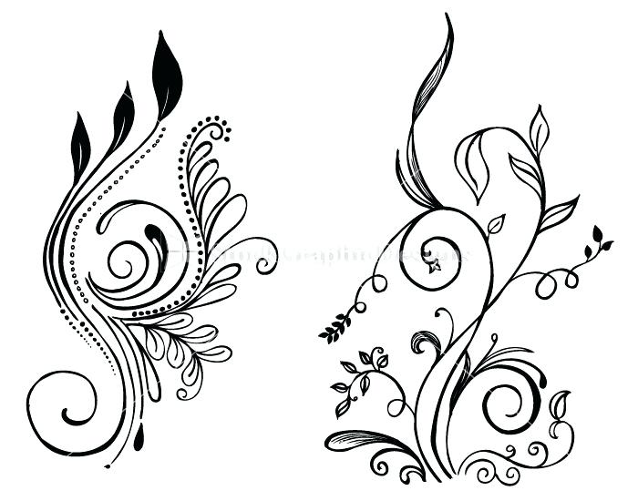 Floral Art Line Design : Simple drawing of flowers at getdrawings free for