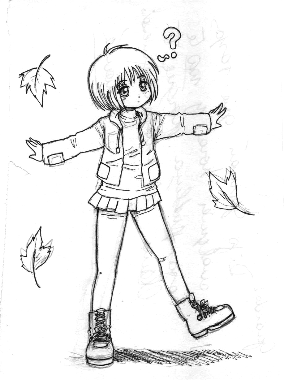 918x1228 Simple Drawing Of Little Girl A Simple Sketch