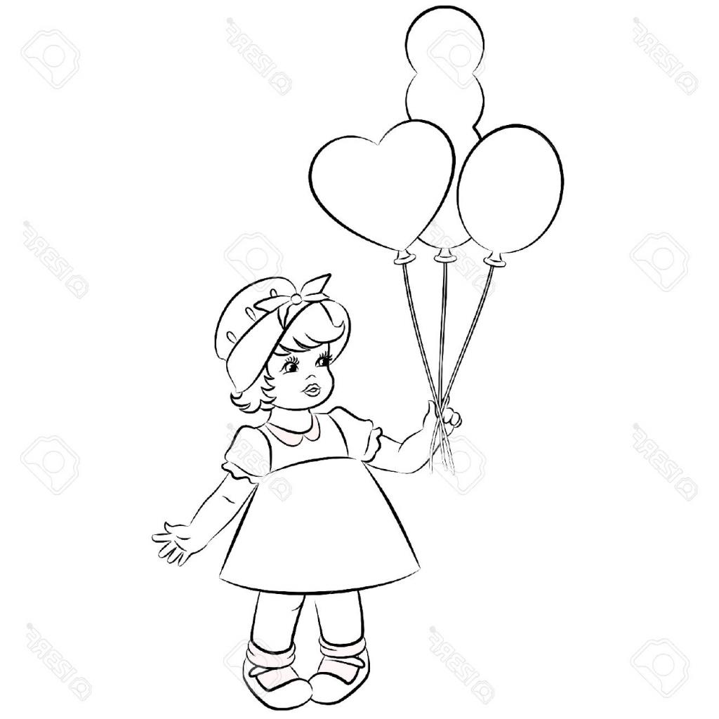 1024x1024 Simple Girl Cartoon Drawings Cartoon Drawing Little Girl People