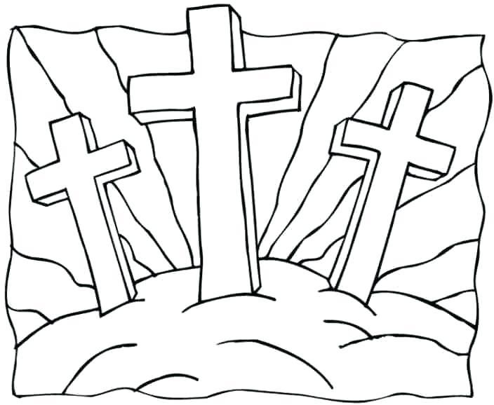 704x578 Easter Christian Drawings Simple Easter Cross Drawings