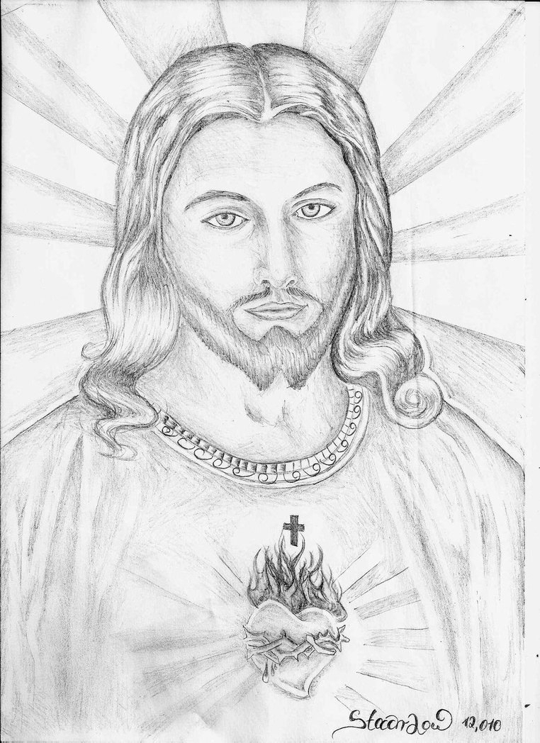 762x1048 Jesus Christ Drawing In Pencil Jesus Christ Simple Pencil Drawing