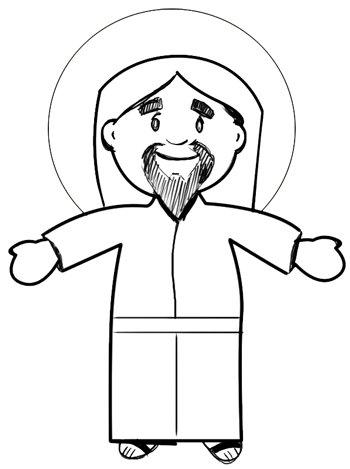 350x469 Simple Cartoon Drawing Of Jesus