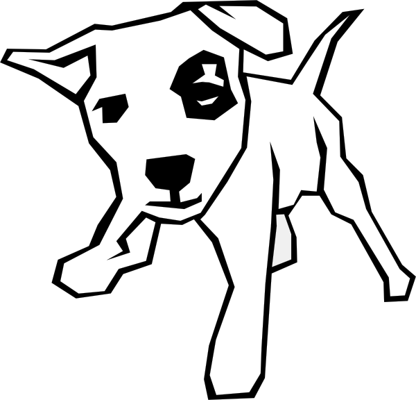 600x576 Dog Simple Drawing Clip Art