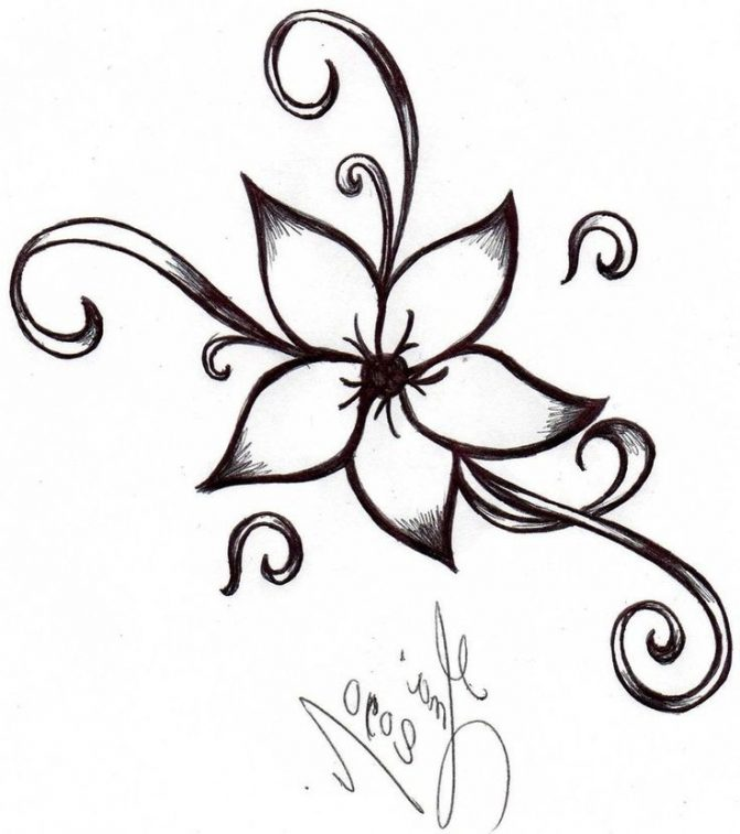 671x757 Coloring Pages Easy Flowers To Sketch Flower Drawing Tutorials
