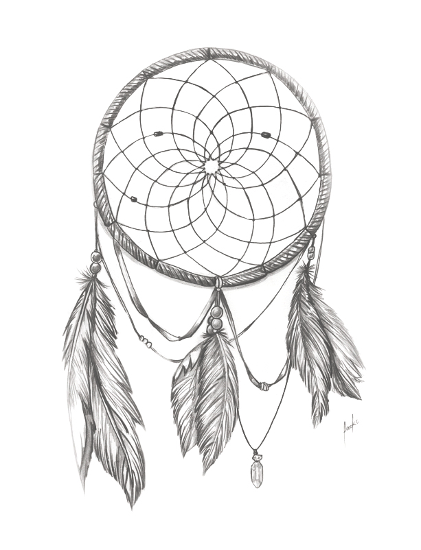 613x802 Dream Catcher Bnw By Packness