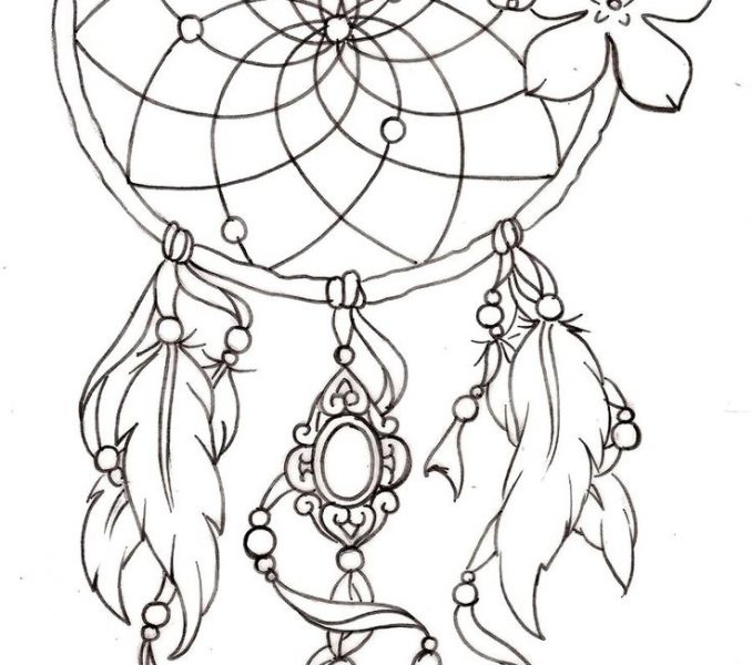 678x600 Dream Catchers Drawings Kids Coloring