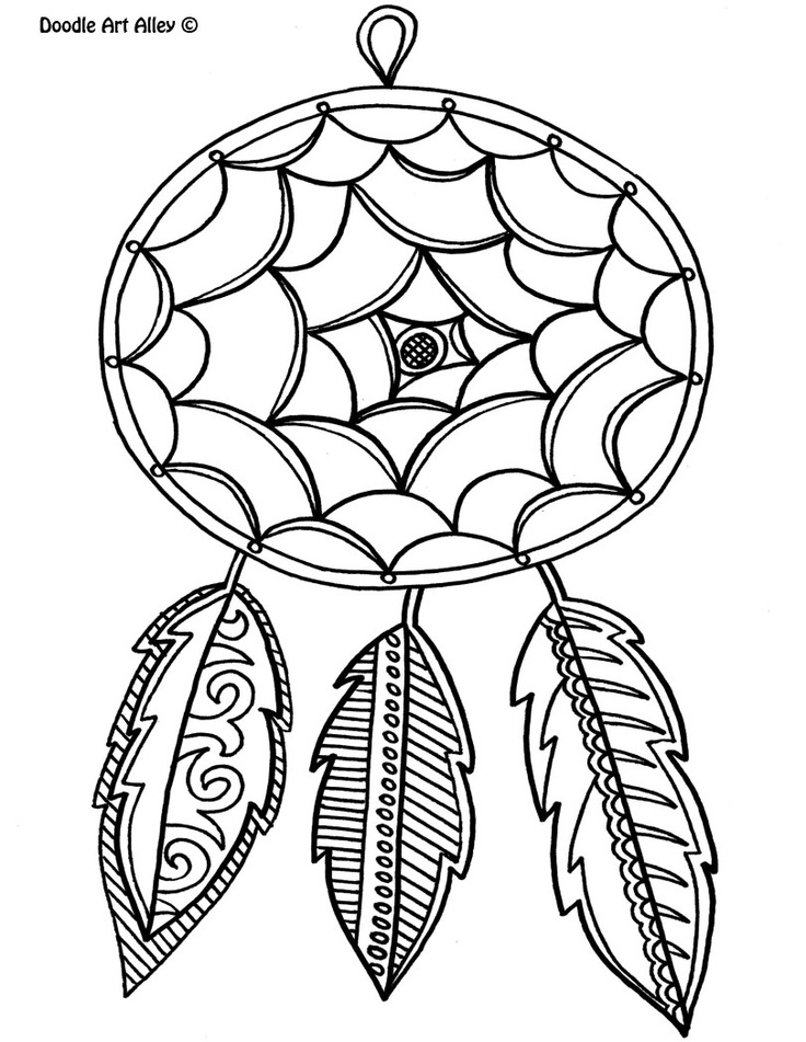 736x951 Dream Catcher Coloring Pages To Download And Print For Free