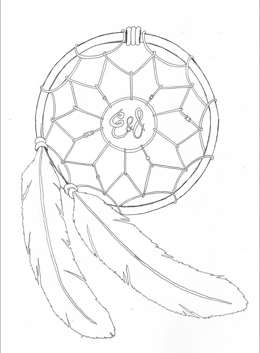 900x1219 Gallery Basic Dream Catcher Drawing,