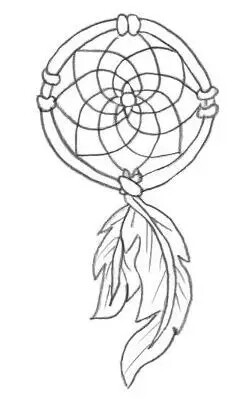 249x399 Simple Dreamcatcher Design Tattoos Tattoo