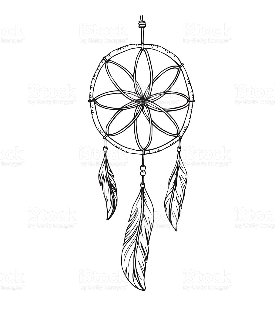 907x1024 Drawing Of A Dreamcatcher