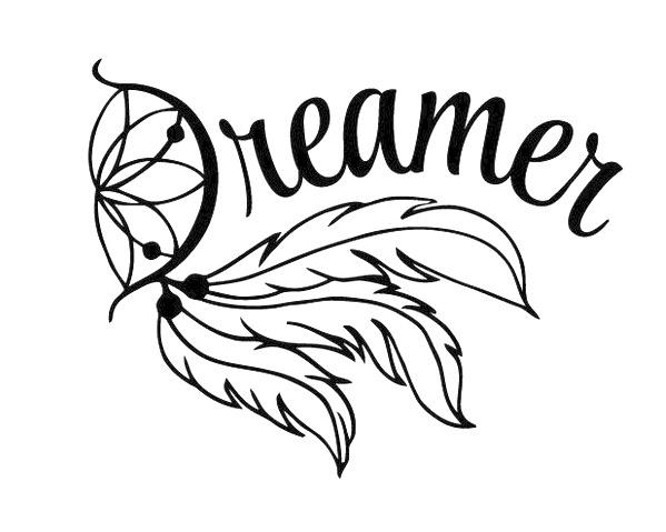 599x479 Dream Catcher Decal, Yeti Decal, Dreamer Decal, Dream Decal, Dream