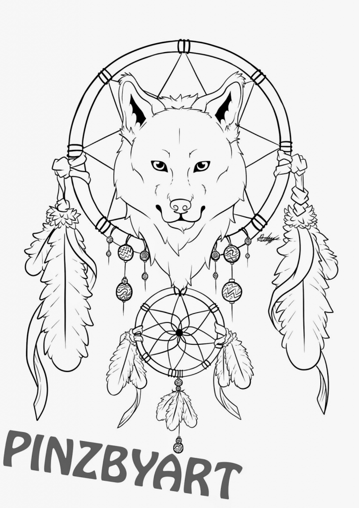 723x1024 Dreamcatcher Drawing Easy Dream Catcher Wolf Drawings Easy Sketch