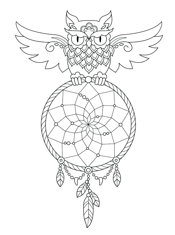 595x800 Epic Dream Catcher Coloring Pages Print Colouring Sheets Indian