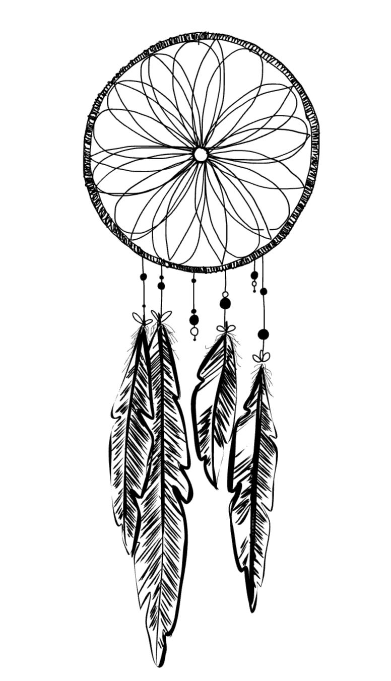 776x1352 Colouring Page Dreamcatcher Deekit