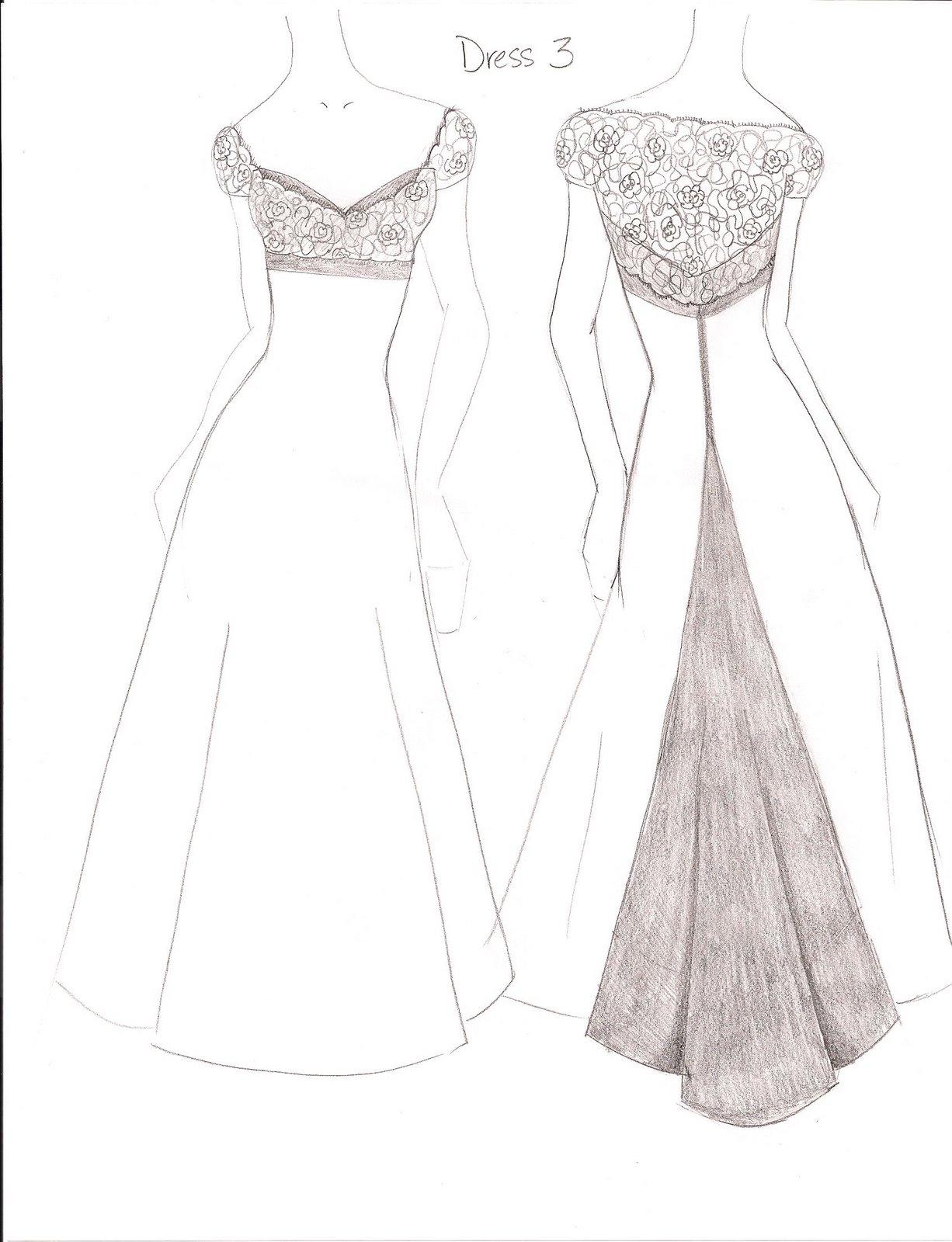 Fashion Dresses Drawings Easy Goldin Ma