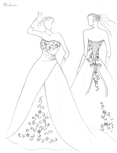 simple dress drawing at getdrawings com free for personal use