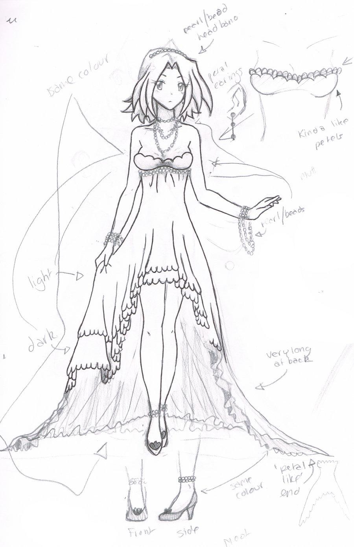 900x1389 Sakura Dress Sketch By Sakura Rose12