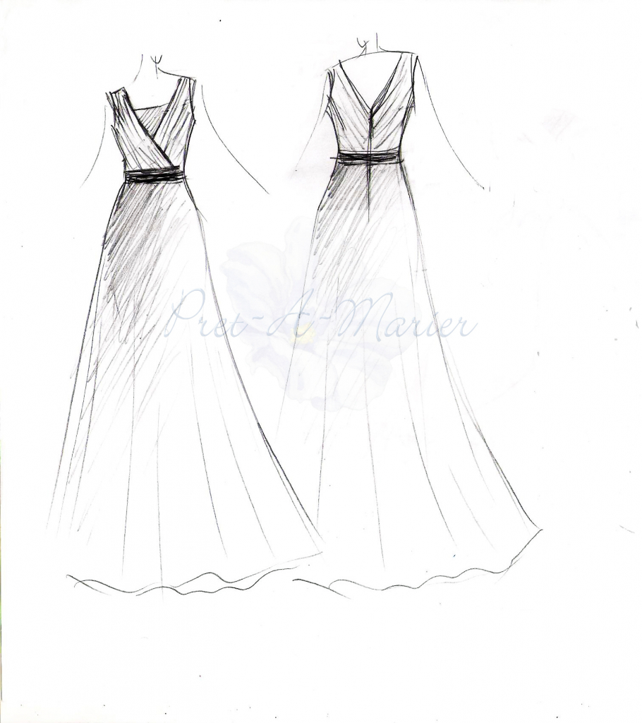 Simple Dress Drawing at GetDrawings.com