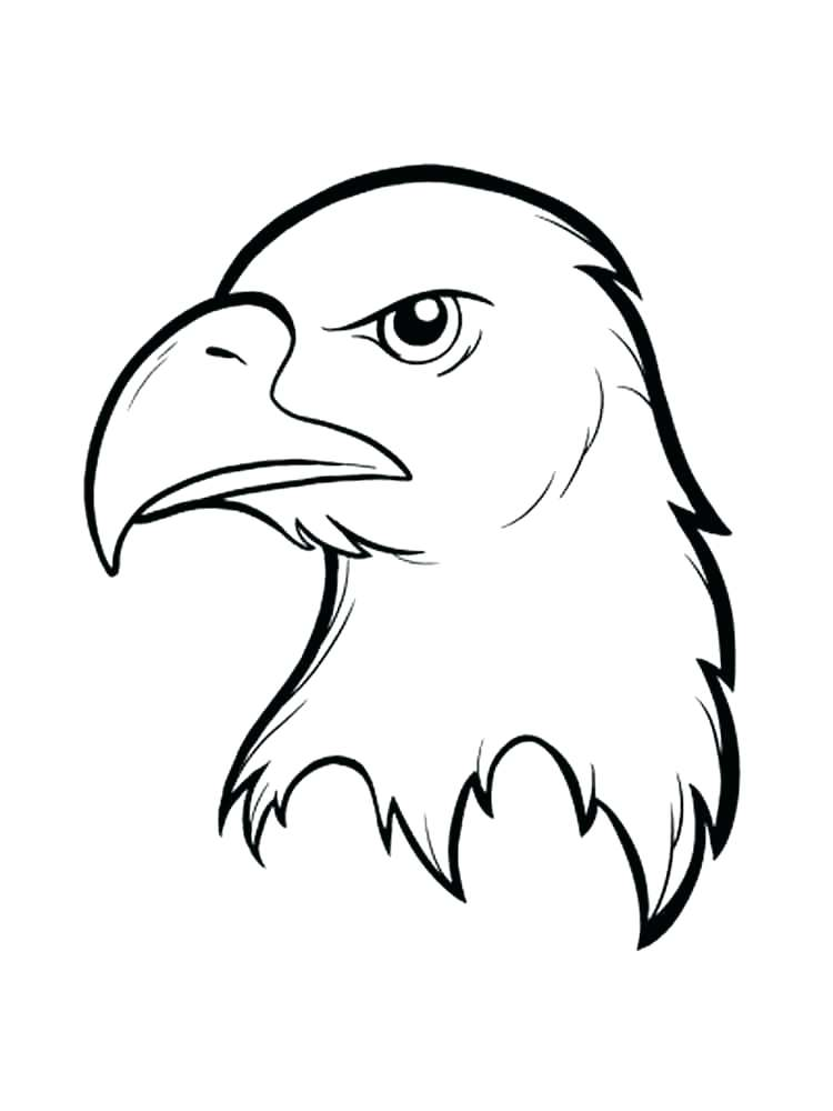 750x1000 Bald Eagle Coloring Pages Eagle Color Page Simple Eagle Standing