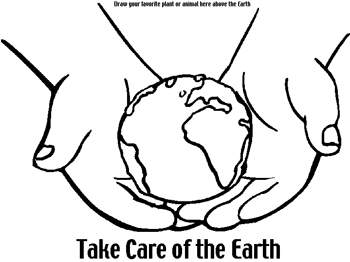 350x262 Earth Day Coloring Pages And Activities Let39s Celebrate