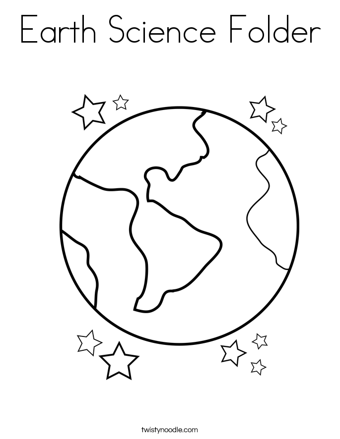 685x886 Earth Science Folder Coloring Page