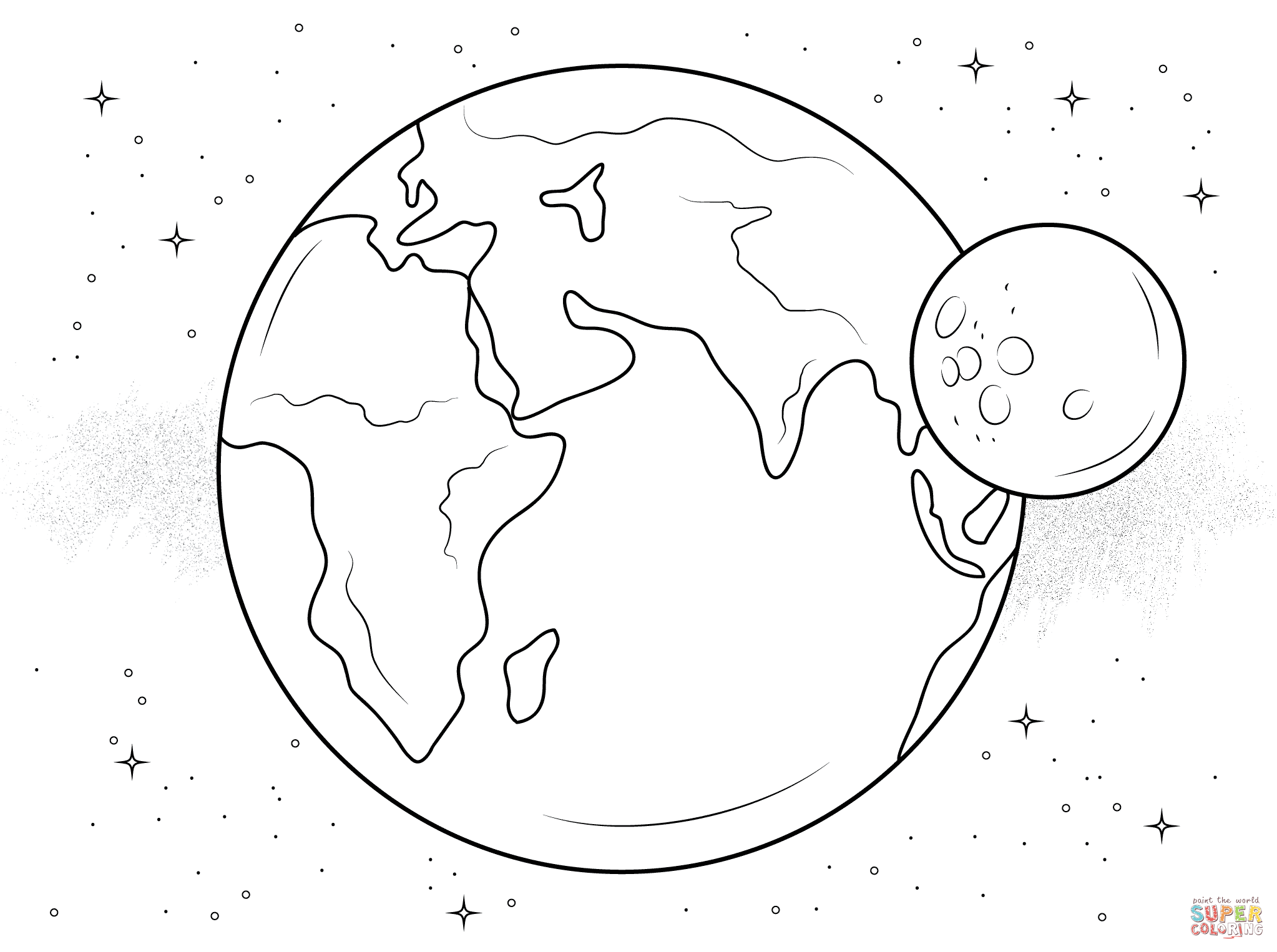 Simple Earth Drawing At GetDrawingscom Free For Personal Use 16 Color Sheet