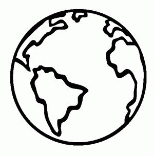 300x305 Large Earth Coloring Page Great For Earth Day Crafts Preschool