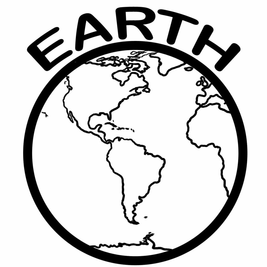 1024x1024 Simple Earth Coloring Page Simple Colorings