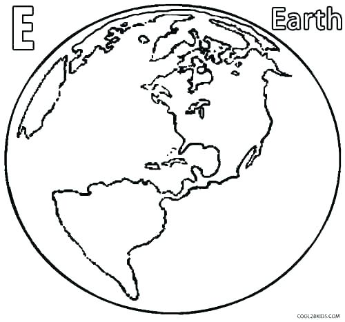 500x467 Simple Earth Coloring Pages Online Free Science Sheets Printable
