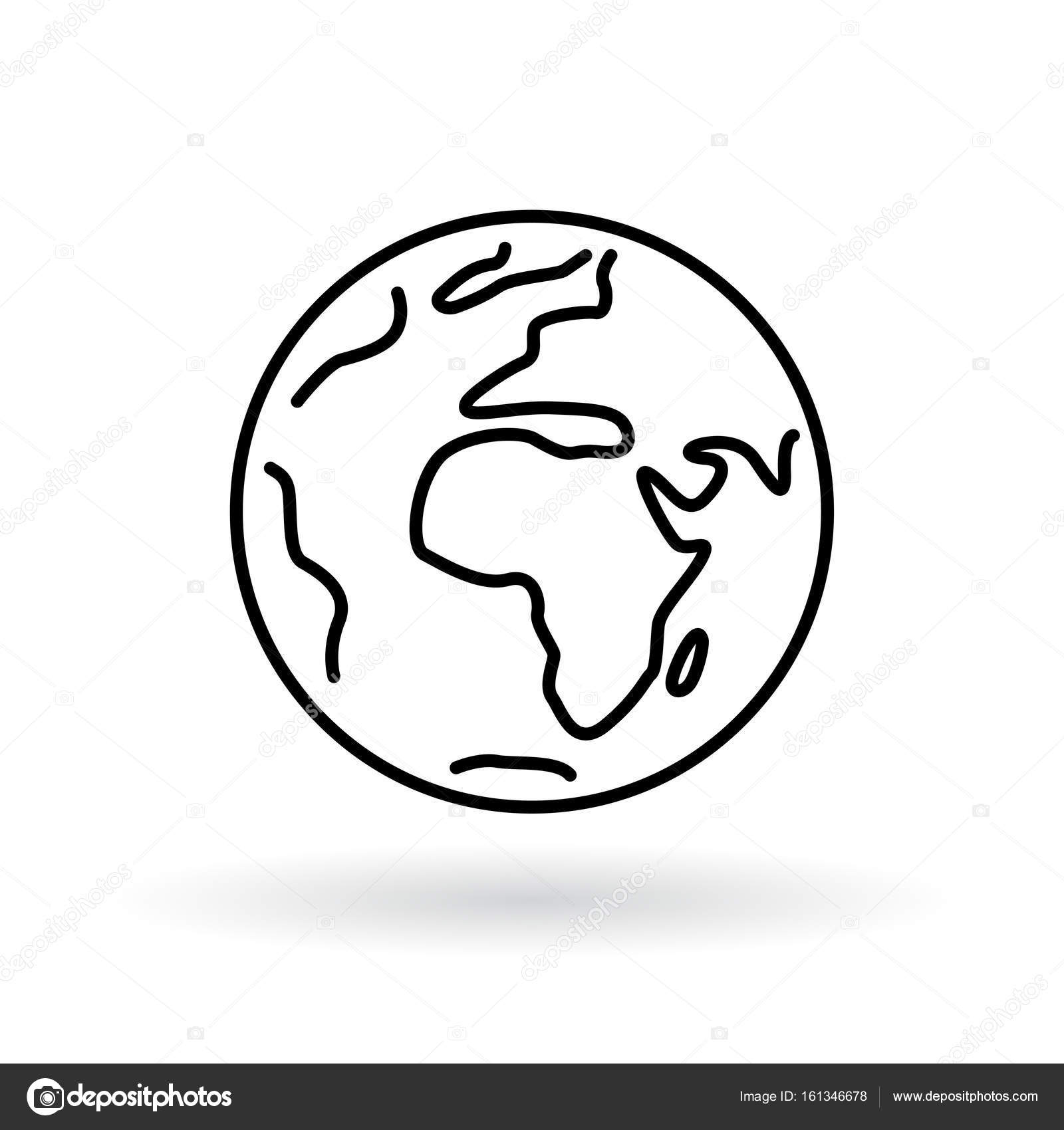 1600x1700 Simple Planet Icon. Earth Sign. World Symbol. Stock Vector
