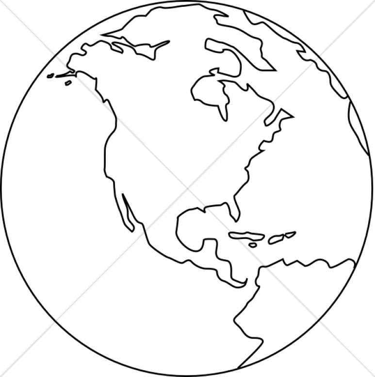773x776 Black And White Earth Clip Art 24898 Simple Black And White Earth