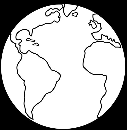 540x550 Colorable Earth Line Art