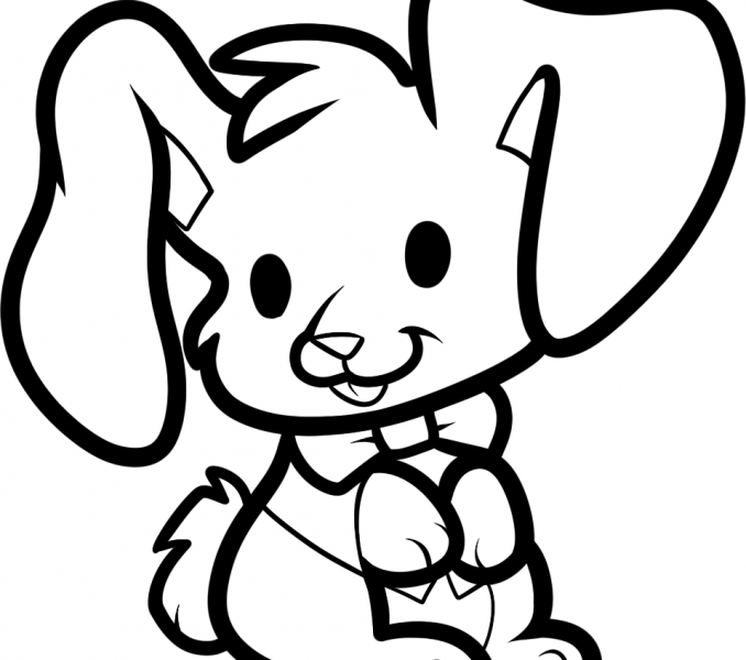 678x600 Bunny Drawing For Kids Kids Coloring
