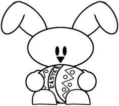 236x211 Easy Easter Bunny Printable Drawing Lesson Drawing
