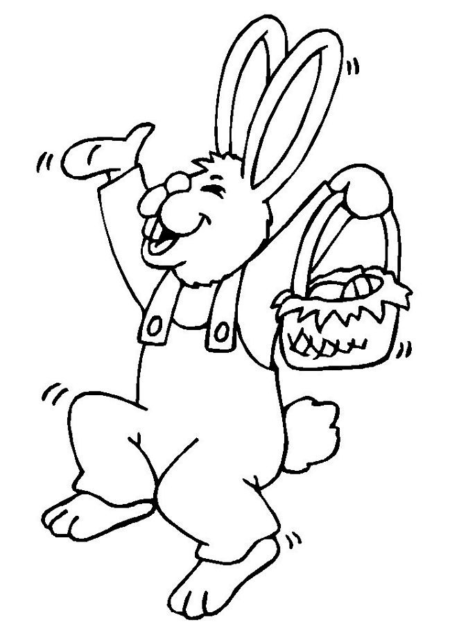 675x900 Free Printable Easter Bunny Coloring Pages For Kids