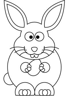 237x336 Easter Bunny Drawing Book 2