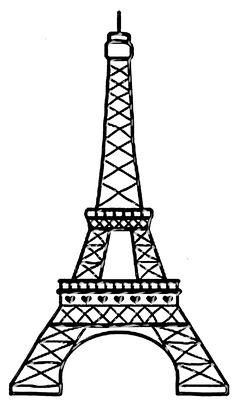 236x403 Drawn Eiffel Tower Silhouette