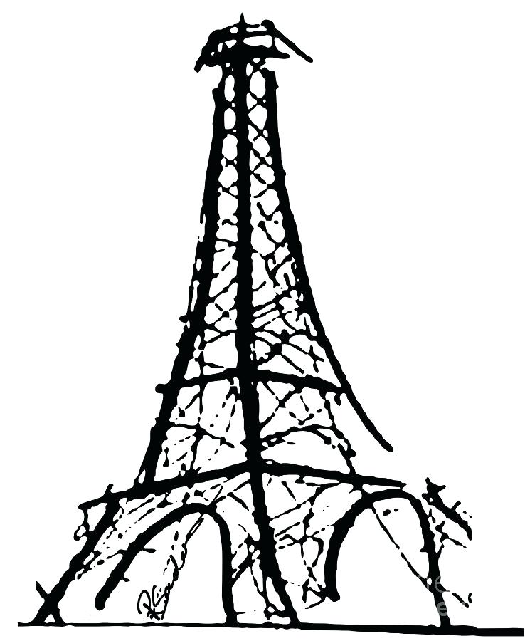 738x900 Eiffel Tower Drawings Free Drawing Of Tower Vector Media