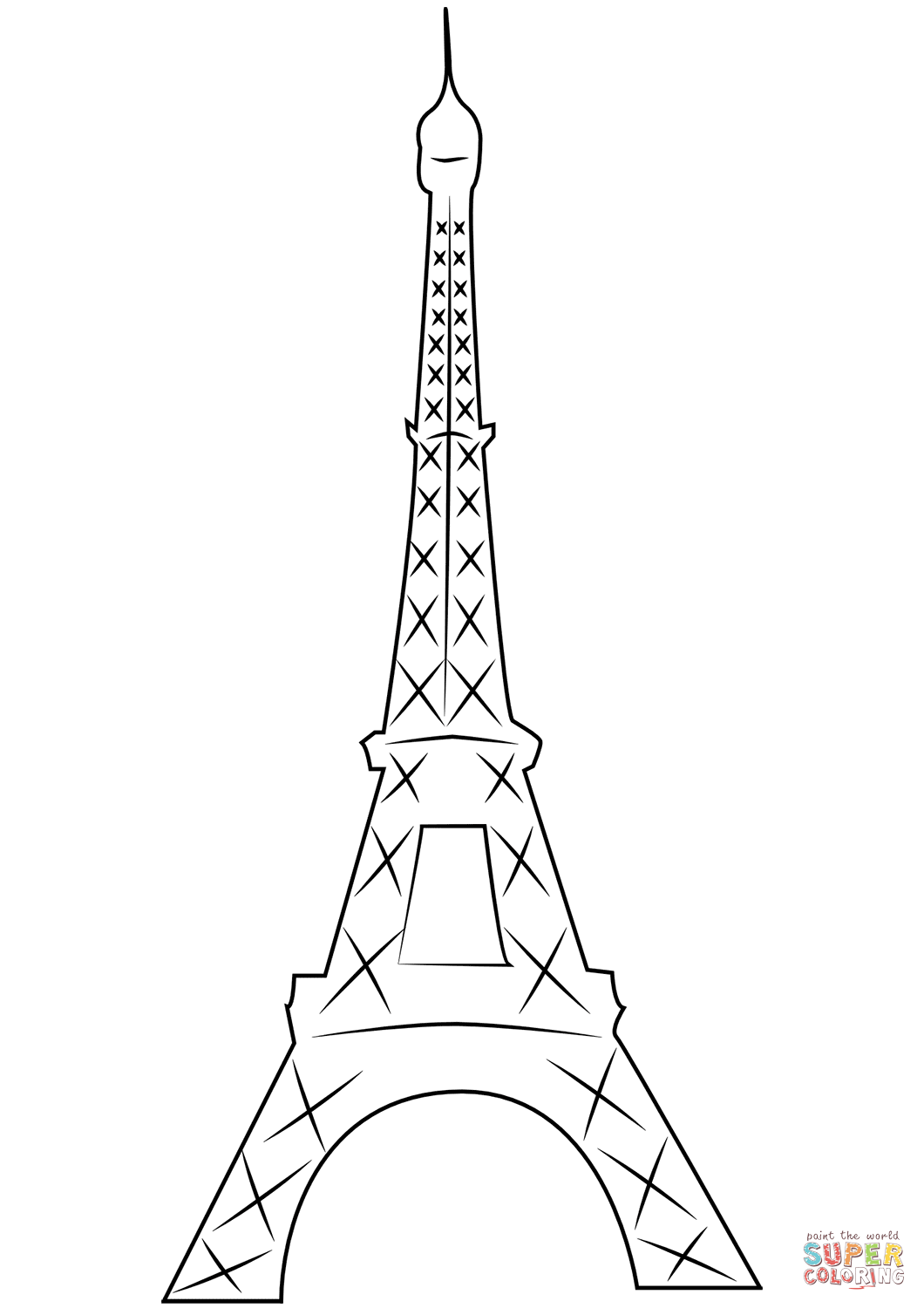 1060x1500 Eiffel Tower In Paris Coloring Page Free Printable Coloring Pages
