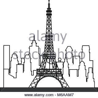 320x320 Eiffel Tower Isolated Vector Illustration Stock Vector Art