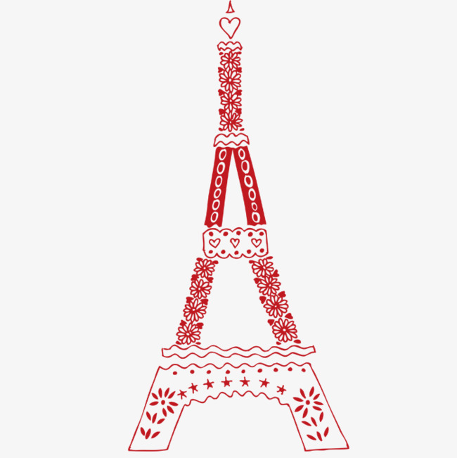 650x651 Cartoon Eiffel Tower, Red, Sharp, Cartoon Png Image For Free Download