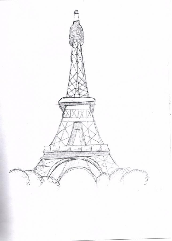 732x1024 Pencil Sketch Of Eiffel Tower The Eiffel Towerbsktballmiaka