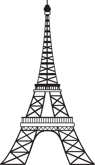 333x578 Simple Eiffel Tower Eiffel Tower Black And White Clipart
