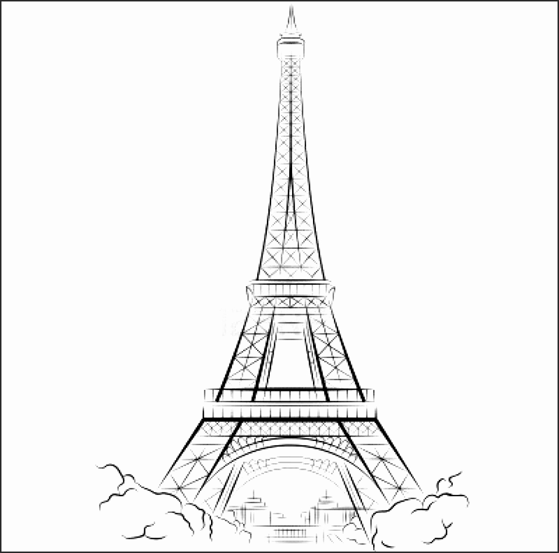 1152x1140 Cartoon Pictures Of The Eiffel Tower Acfww Lovely Eiffel Tower